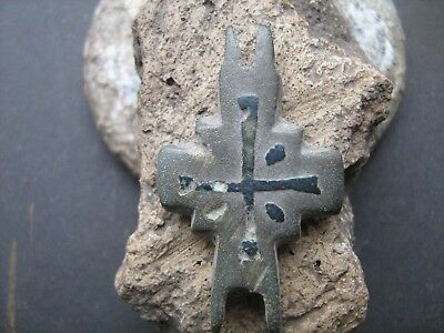 Ancient Bronze Cross-encolpions. 10--13 century.