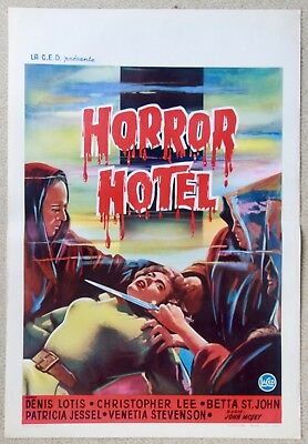 Horror Hotel Christopher Lee Very Rare Original Belgian Movie Poster