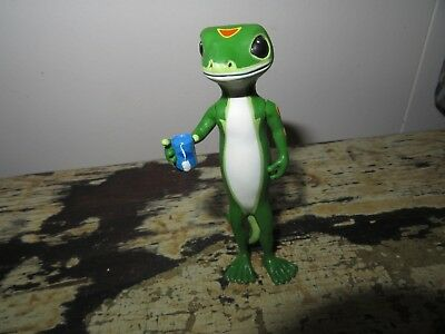 Geico Gecko lizard holding tea cup mug Advertising Promotional figure rare HTF