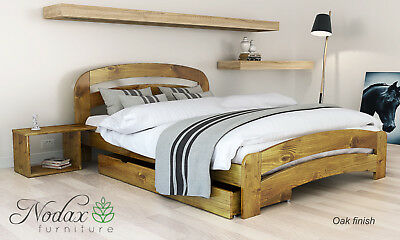 New solid wooden pine 4ft Small Double Size bed frame with slats-'F10' _COLOURS