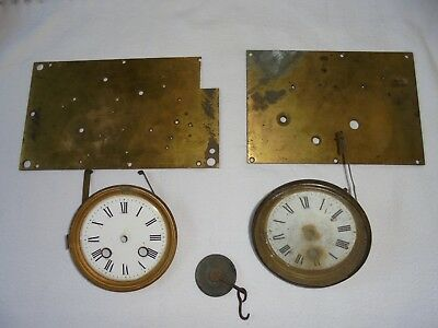 Antique solid brass clock parts for restoration work