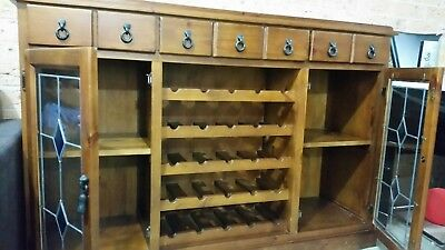 Wooden Bar Cabinet with Wine Rack
