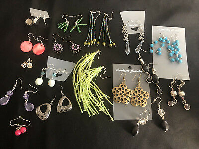 10 PAIRS EARRINGS Mixed Style & Design Individually Packed Perfect Gift Job-Lot