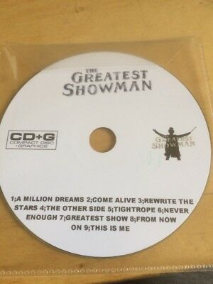 Greatest Showman Karaoke Cd+G Backing Tracks