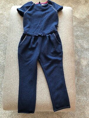 Girls Ted Baker Navy Jumpsuit Age 5-6 Years