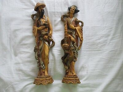A Pair of Vintage Japanese Figures, possibly NORLEANS. 51cms Tall
