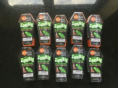 Party Bag Special 10 Nano Hex Bugs Glow In The Dark Bulk Lot Of 10 Brand New