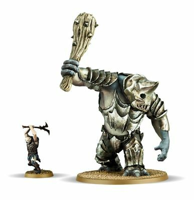 The Hobbit trilogy -Lord of the rings. Gundabad Troll with Crushing Club, 28mm
