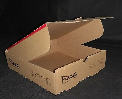 "7"" Brown Pizza Boxes, Takeaway Designed, Strong Quality Postal Boxes"