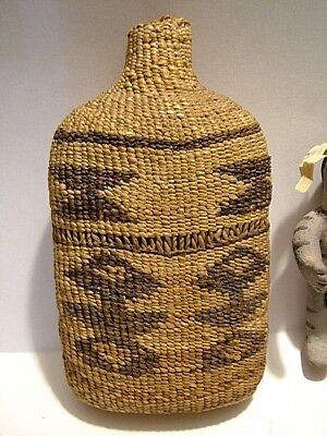 Choice 19Thc.native American Twined/basket Weave Bottle. /cap