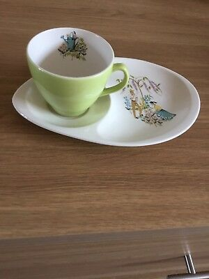 Green Fingers Beswick Snack Plate And Cup