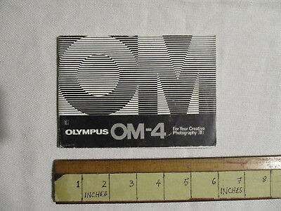 """Olympus OM-4 brochure / instruction manual? """"For Your Creative Photography [B]"""""""