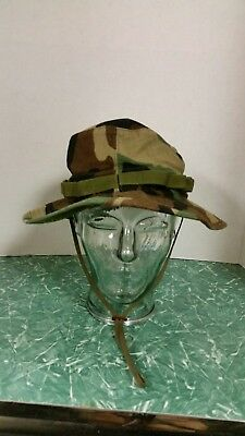 Us Army G.i. Multicam Acu Ripstop Camouflage Combat Floppy Hat Boonie Cap 7 1/2
