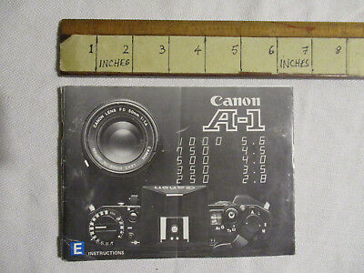 Canon A-1 instruction manual. 100 pages.