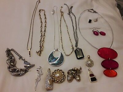 job lot of vintage and modern M&S costume jewellery