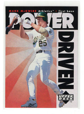 1996 Upper Deck Power Driven #PD10 Mark McGwire / Oakland Athletics / NM-MT