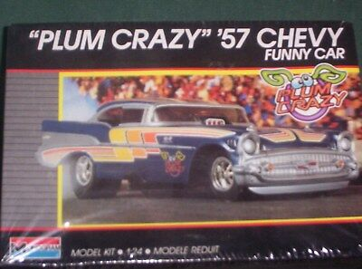 "Monogram 1/25 scale ""PLUM  CRAZY""  1957 Chevy Funny Car  model car- SEALED OLDIE"