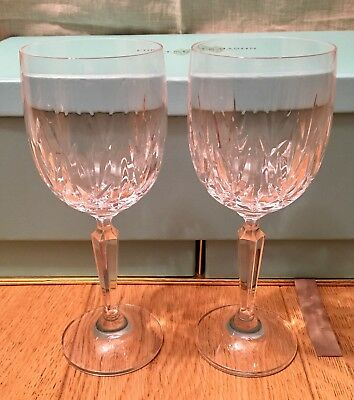 A Pair Of Waterford Crystal Nocturne Wine Glasses New Without Box
