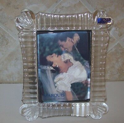 Marquis by Waterford crystal frame 3.5 X 5 - new