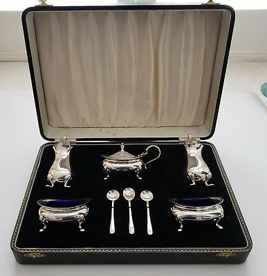 William Suckling Sterling Silver Salt & Mustard Set English