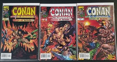 Conan the Barbarian River of Blood #1-3 Complete Set Marvel Comics 1998 VF/NM