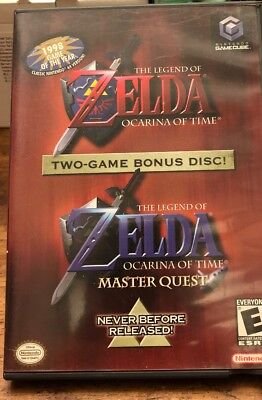 Gamecube - The Legend of Zelda - Ocarina of Time & Master Quest NEAR MINT!!!