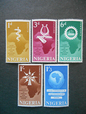 Nigeria 1962 Lagos Conference of African & Malagasy States SG 111-5 MNH (photos)