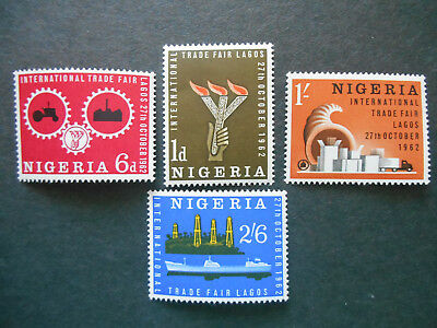 Nigeria 1962 Trade Fair, Lagos SG 122-5 MNH; Oil Well Tanker Industry Torch