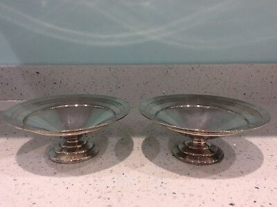 Mappin And Webb Vintage Silver Plate Footed Bowls