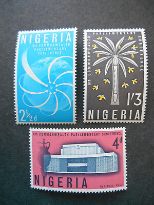 Nigeria 1962 Parliamentary Commonwealth Conference, Lagos SG 126-8 MNH (photos)