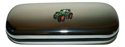 Fendt 939 Green Tractor Glasses Case Enamel Chrome Farming Gift inc cloth