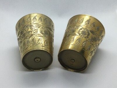 Vintage Indian Brass Lassi Cups