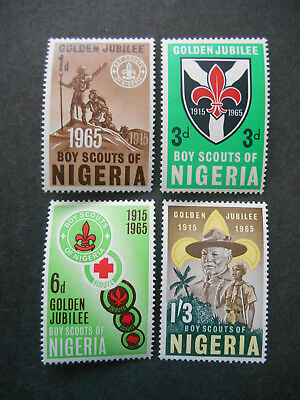 Nigeria 1965 50th Anniversary of Nigerian Scouts SG 157-160 MNH Baden-Powell