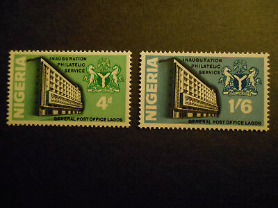 Nigeria 1969 Inauguration of Philatelic Service SG 215-216 MNH (see photos)