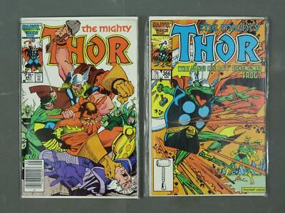 Lot of Two Marvel The Mighty Thor #'s 366 & 367 May April 1986 Comic Books