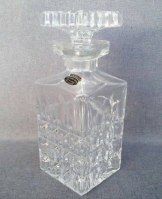 Vintage french carafe 1970-80's made of thick crystal heavy nice piece