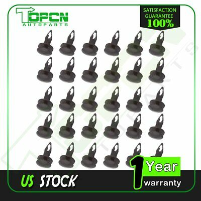 100pcs #63844-01A00 Fender Retainer Nylon Black Fastener Car Clips for Mazda