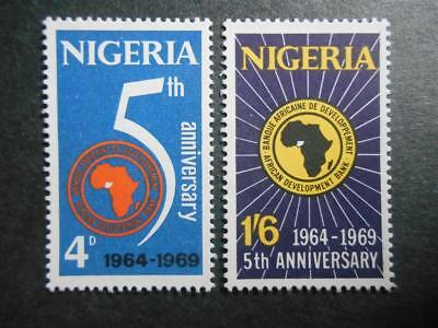 Nigeria 1969 Fifth Anniversary of the African Development Bank SG 233-234 MNH