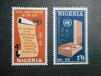 Nigeria 1970 25th Anniversary of the United Nations SG 246-247 MNH set of two