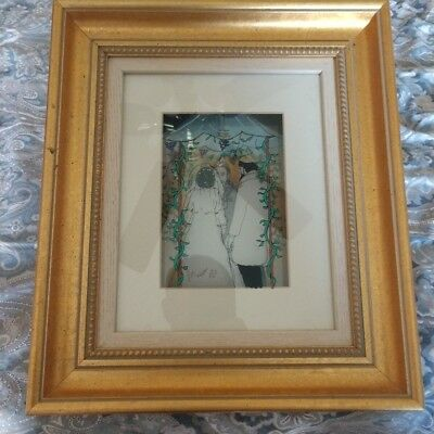 Jean Pierre Weill 3D Vitreography Glass Painting Art Framed