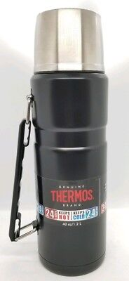 Thermos King Stainless 40 oz Vacuum Insulated Food/Beverage Bottle Tumbler Black