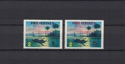 Philippinen Pilipinas 1960 Minr 652-653 ** / mnh refuges sunset Manila Bay ship
