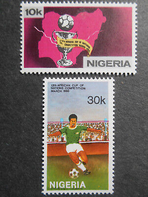 Nigeria 1980 12th African Cup of Nations Football Competition SG 404-5 MNH set