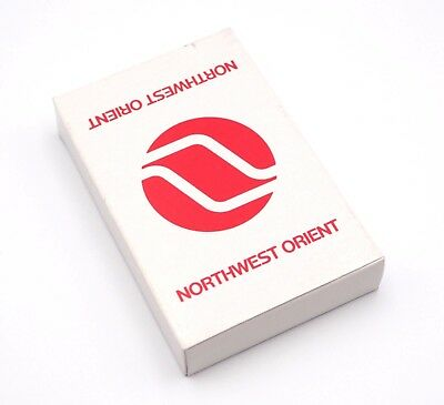 70's Vintage Northwest Orient Airline Collector Playing Cards Unopened In Box