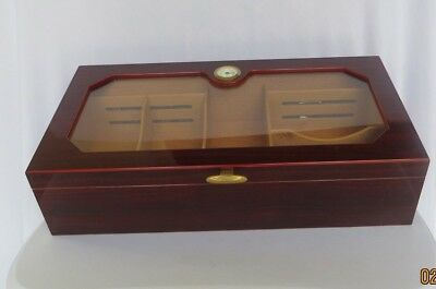 1915 Thompson  & Co Humidor w/Hygrometer Acrylic Top Cigar Case Display Case