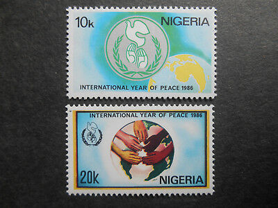 Nigeria 1986 International Peace Year SG 526-7 MNH set of two (see photos)