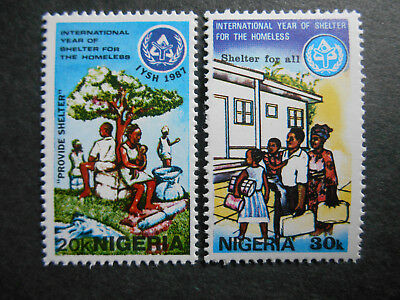 Nigeria 1987 Year of Shelter for the Homeless SG 551-552 MNH (see photos)