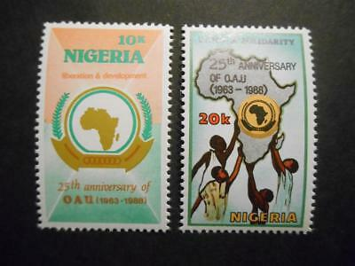Nigeria 1988 25th Anniversary of Organisation of African Unity OAU SG 558-9 MNH