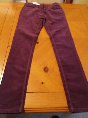 Bnwt Next Girls Wine Trousers Adjustable Waist Age 14 Years Brand New With Tags