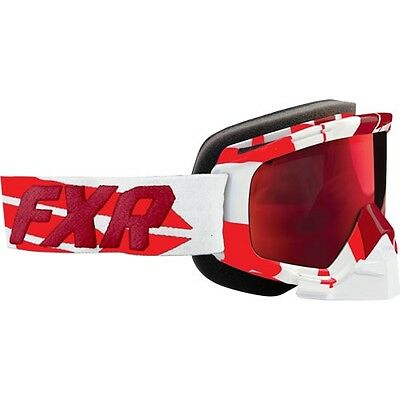FXR MISSION SNOWMOBILE MX SKI GOGGLES- Burgundy / Red  - ONE SIZE -NEW